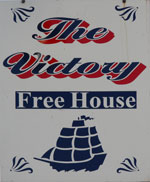 The pub sign. The Victory, East Farleigh, Kent