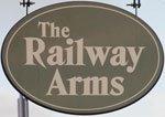 The pub sign. The Railway Arms, Downham Market, Norfolk