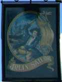 The pub sign. Jolly Sailor, Canterbury, Kent