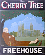 The pub sign. Cherry Tree, Canterbury, Kent