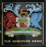 The pub sign. The Andover Arms, Hammersmith, Greater London
