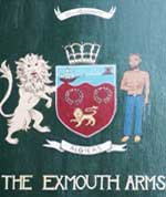 The pub sign. The Exmouth Arms, Clerkenwell, Central London