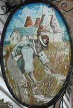 The pub sign. Man of Kent, Tonbridge, Kent