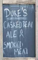 The pub sign. Duke of York (formerly Beef & Brew, formerly Duke's (Brew & Que)), Hackney, Greater London