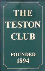 The pub sign. Teston Men's Working Club, Teston, Kent