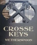 The pub sign. The Crosse Keys, City, Central London