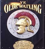 The pub sign. Ye Olde Watling, City, Central London