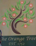 The pub sign. The Orange Tree, Enfield, Greater London