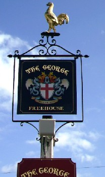 The pub sign. The George, Bethersden, Kent