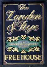 The pub sign. The London & Rye, Catford, Greater London