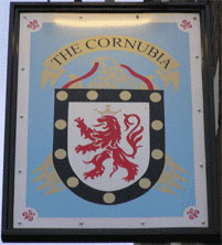 The pub sign. The Cornubia, Bristol, Avon