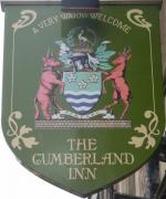 The pub sign. The Cumberland Inn, Carlisle, Cumbria