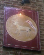 The pub sign. Lamb & Flag, Covent Garden, Central London