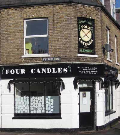 Picture 1. The Four Candles Alehouse, St Peter's, Kent