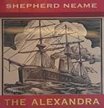 The pub sign. The Alexandra, Chatham, Kent