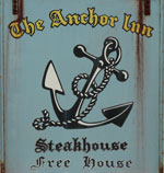 The pub sign. The Anchor, Yalding, Kent