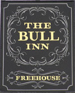 The pub sign. The Bull Inn, Benenden, Kent