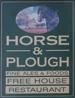 The pub sign. Horse & Plough, Bingham, Nottinghamshire