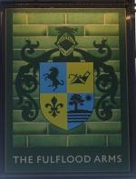 The pub sign. Fulflood Arms, Winchester, Hampshire
