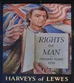 The pub sign. Rights of Man, Lewes, East Sussex