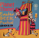 The pub sign. Planet Thanet Easter Beer Festival 2013, Margate, Kent