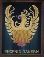 The pub sign. The Phoenix Tavern, Faversham, Kent