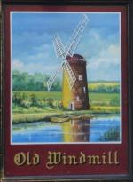 The pub sign. The Old Windmill, Coventry, West Midlands
