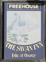The pub sign. The Swan Inn, Wittersham, Kent