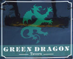 The pub sign. Green Dragon, Wymondham, Norfolk