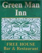 The pub sign. The Green Man, Little Snoring, Norfolk