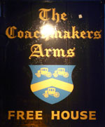 The pub sign. Coachmakers Arms, Norwich, Norfolk
