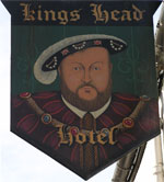 The pub sign. Kings Head, Canterbury, Kent