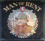 The pub sign. The Man of Kent Ale House, Rochester, Kent