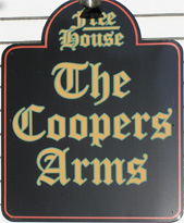 The pub sign. The Coopers Arms, Rochester, Kent