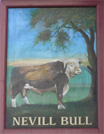 The pub sign. Nevill Bull, Birling, Kent
