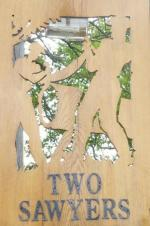 The pub sign. Two Sawyers, Pett, East Sussex