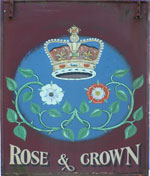 The pub sign. Rose & Crown, Halstead, Kent