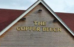 The pub sign. Copper Beech, New Costessey, Norfolk