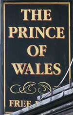 The pub sign. Prince of Wales, Norwich, Norfolk