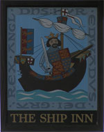 The pub sign. The Ship Inn, Rye, East Sussex
