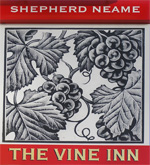 The pub sign. The Vine Inn, Tenterden, Kent