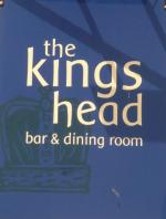 The pub sign. The Kings Head, Hadleigh, Suffolk
