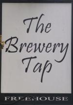 The pub sign. The Brewery Tap, Sudbury, Suffolk