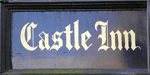 The pub sign. Castle Inn, Chiddingstone, Kent