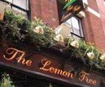 The pub sign. The Lemon Tree, Charing Cross, Central London