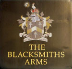 The pub sign. The Blacksmiths Arms, St Albans, Hertfordshire