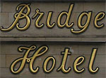 The pub sign. Bridge Hotel, Newcastle-upon-Tyne, Tyne and Wear