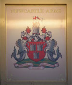 The pub sign. The Newcastle Arms, Newcastle-upon-Tyne, Tyne and Wear