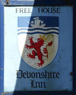 The pub sign. Devonshire Inn, Sticklepath, Devon