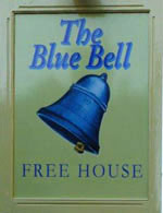 The pub sign. Blue Bell, Belmesthorpe, Lincolnshire